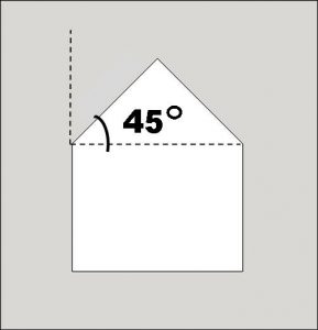 45 degree with label