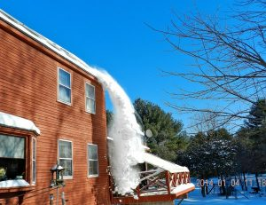 snow shedding from solar panels