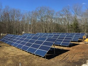 Four of the five solar arrays by NE Clean Energy at Nature's Classroom