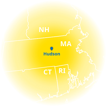 Solar panel company near me: New England Clean Energy service area