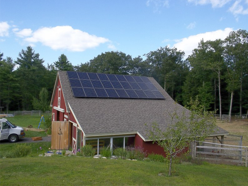 Classic Red Barn New England Clean Energy