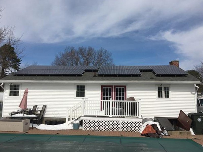 large residential solar installation