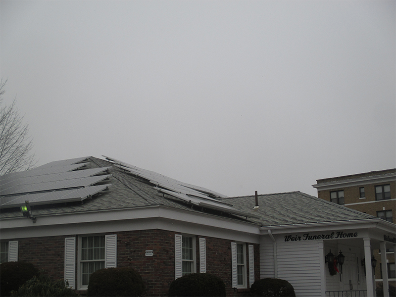 solar panels on funeral home