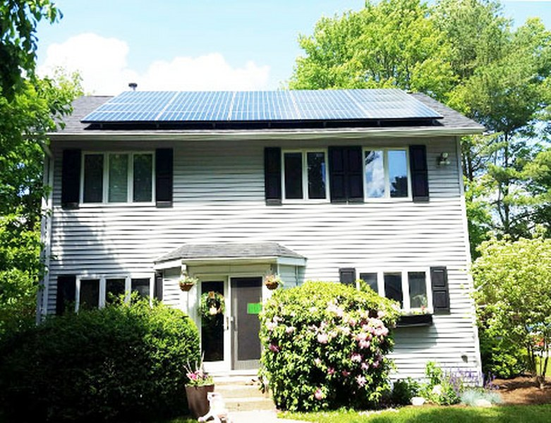 Residential Solar Install with trees