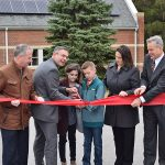 perkins solar ribbon-cutting