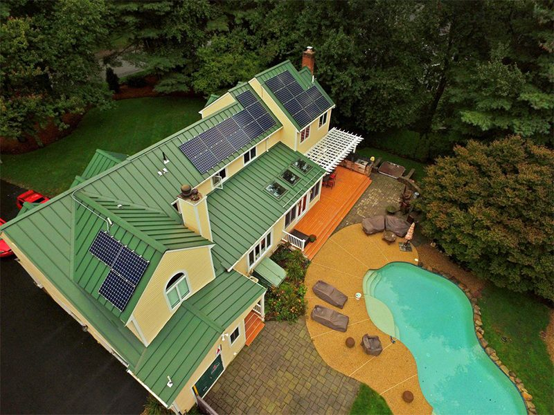 awesome aerial solar view medfield mass